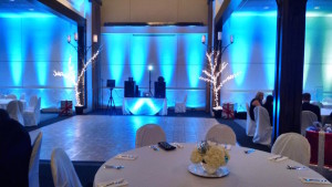 Wedding Blue Uplighting