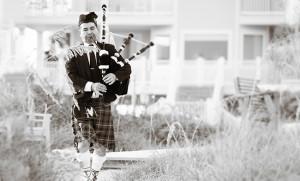 Scottish Bagpiper Wedding